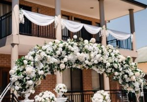 Propped & Pretty floral arch