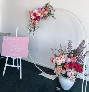 Ruby Oak Floristry bridal shower