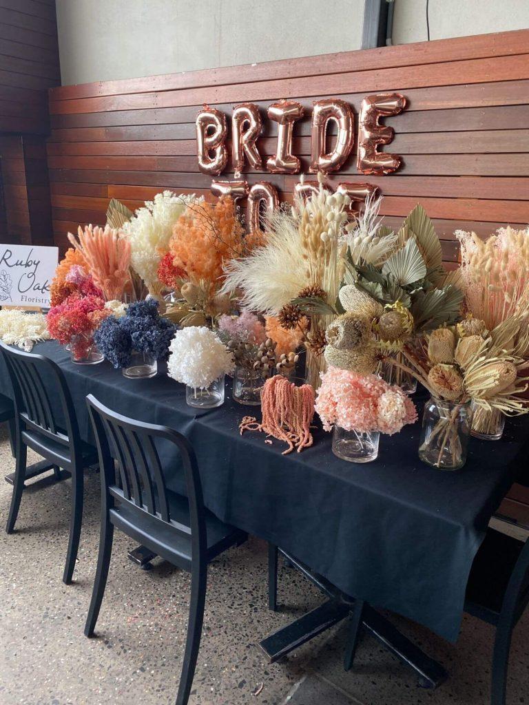 Ruby Oak Floristry bridal table