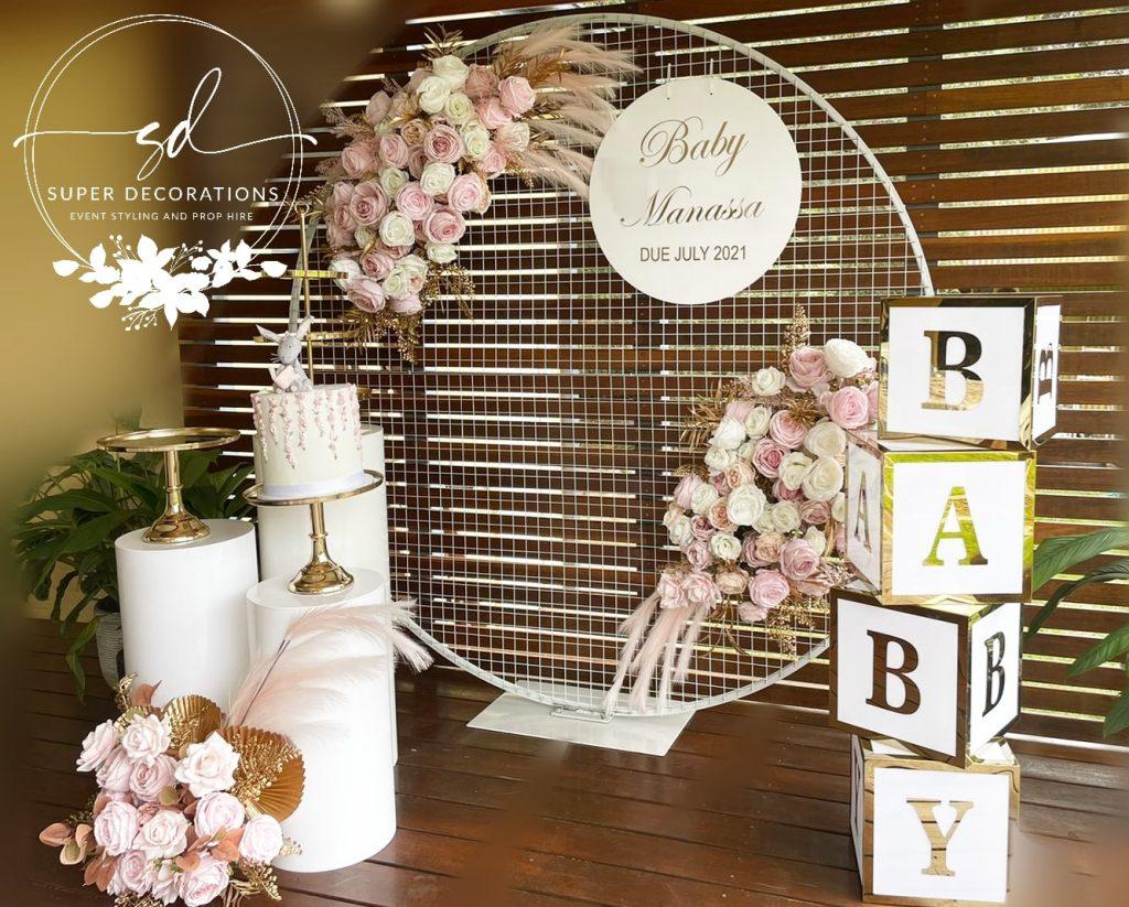 Super Decorations baby shower