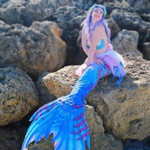 Mermaid Melody on the rocks