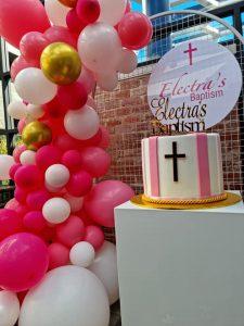 Get Glammed Events baptism cake