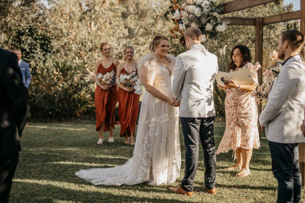 Helen Mansfield Wedding Services arch