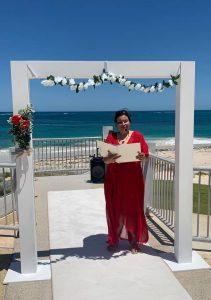 Helen Mansfield Wedding Services beach