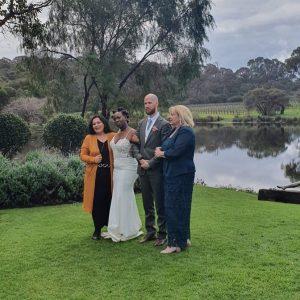 Helen Mansfield Wedding Services water