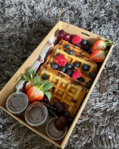 Hudley's Grazing and Co. waffles