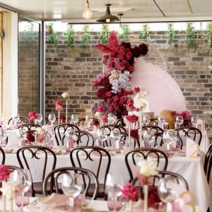 Sass Events pink tables